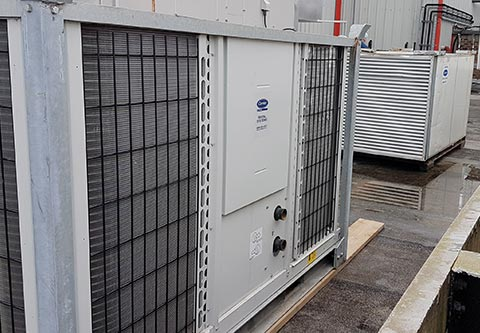 Production Line Cooling - CRS 100kW Chiller and CRS 100kW AHU